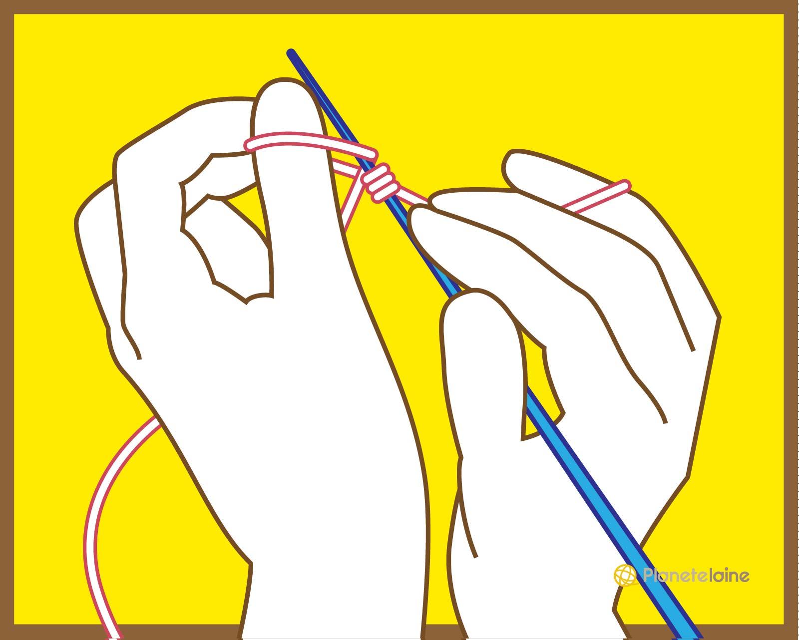 Blog laine tricot crochet plan te laine tuto monter - Apprendre a monter des mailles ...