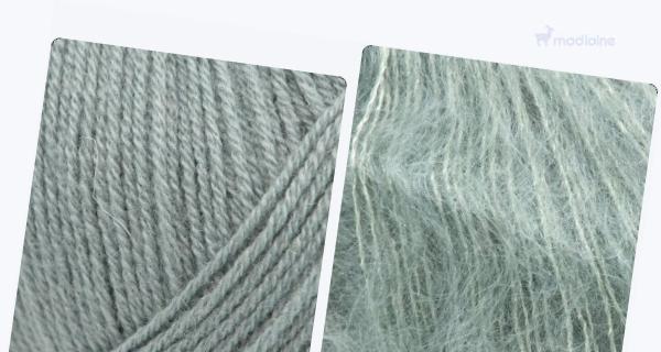 Comparer :  Knitting For Olive Merino Dusty Aqua,  Knitting For Olive Soft Silk Mohair Dusty Aqua