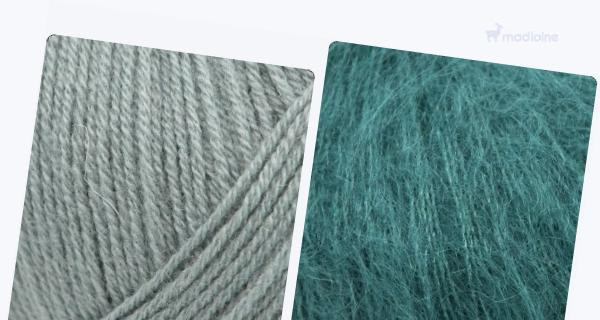 Comparer :  Knitting For Olive Merino Dusty Aqua,  Knitting For Olive Soft Silk Mohair Petroleum Green