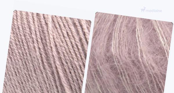 Comparer :  Knitting For Olive Merino Dusty Rose,  Knitting For Olive Soft Silk Mohair Dusty Rose