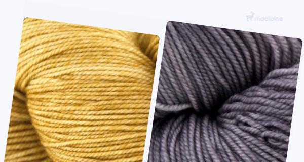 Comparer :  Malabrigo Sock Ochre 803,  Malabrigo Sock Plomo 056