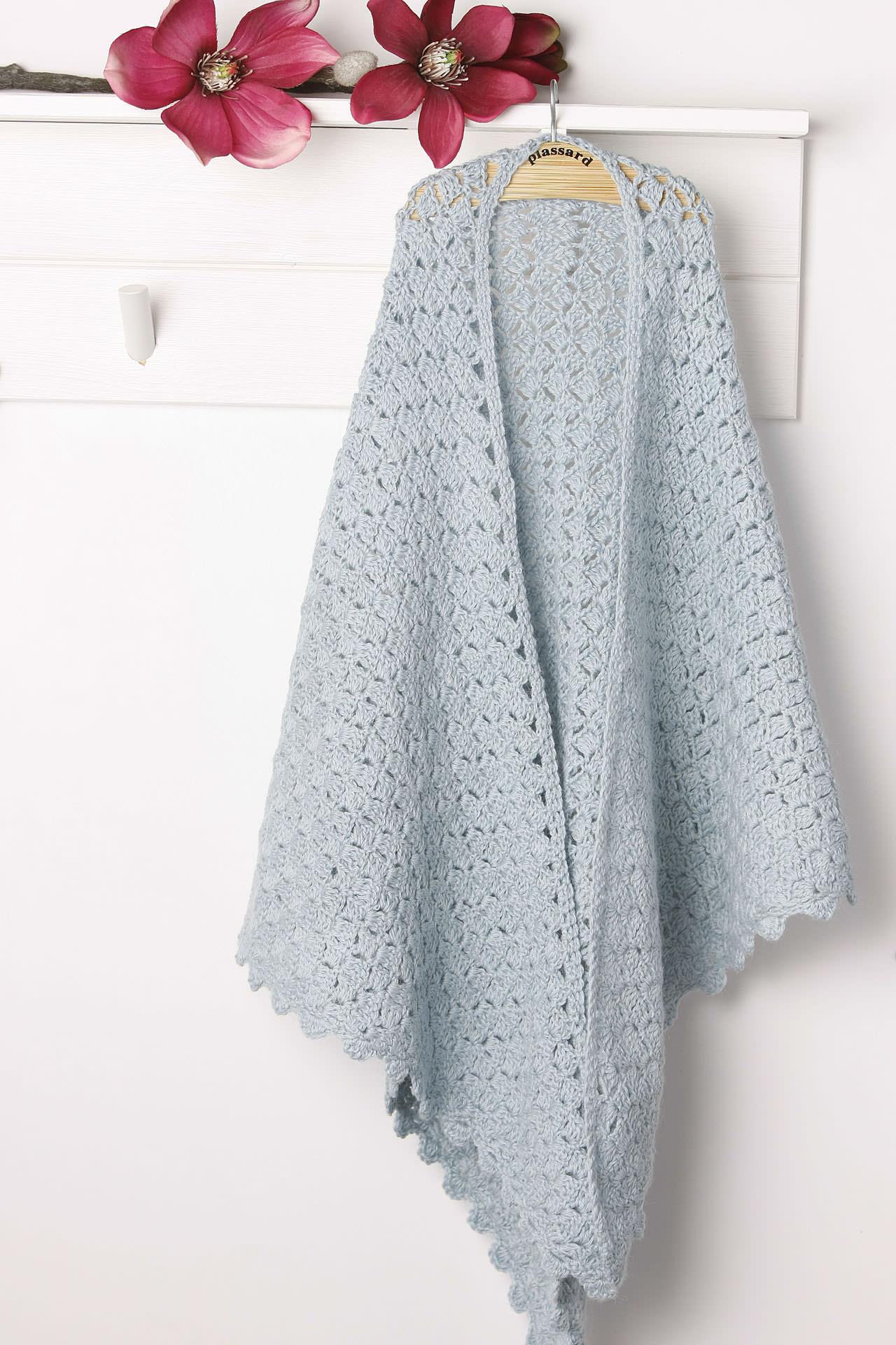 modele gratuit de chale au tricot