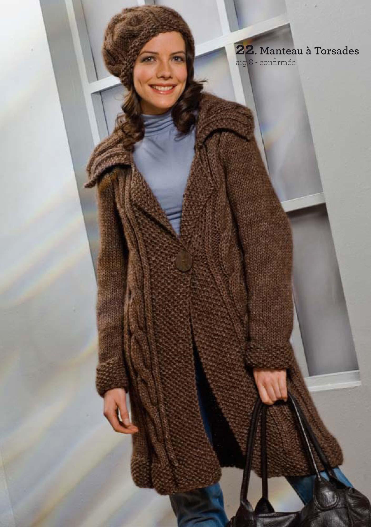 tricoter un manteau pour femme