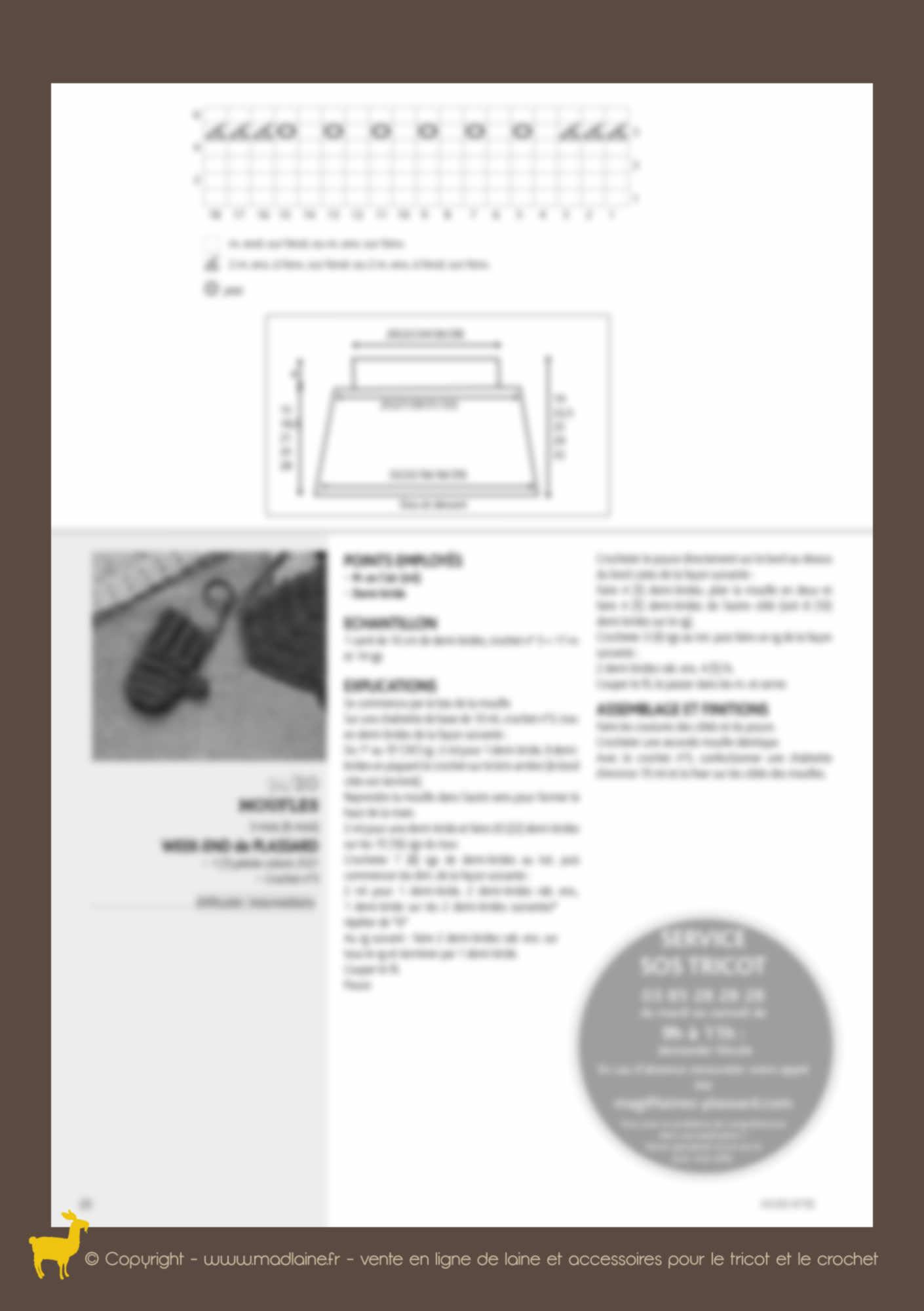 Modèle poncho et moufles 94-20 - PLASSARD   Mad laine c03740e2b96