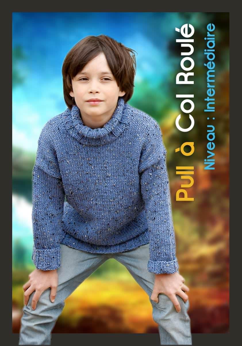 pull col roul 99 30 mod les tricot gratuit tricoter. Black Bedroom Furniture Sets. Home Design Ideas