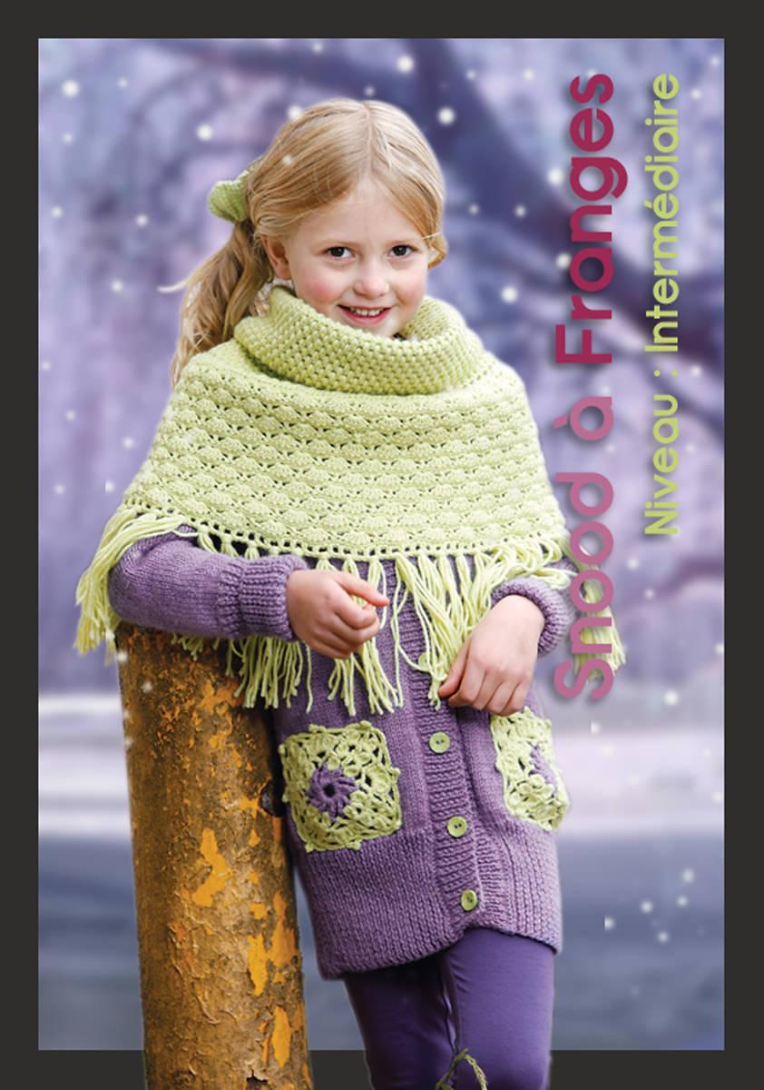 Snood jupe franges crochet 99 19 mod les tricot gratuit tricoter mad laine - Modele tricot aiguille circulaire ...
