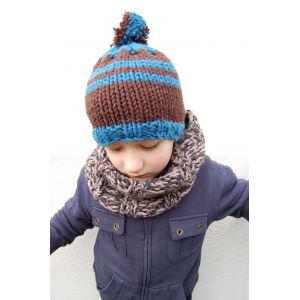 modèle tricot bonnet a pompon homme