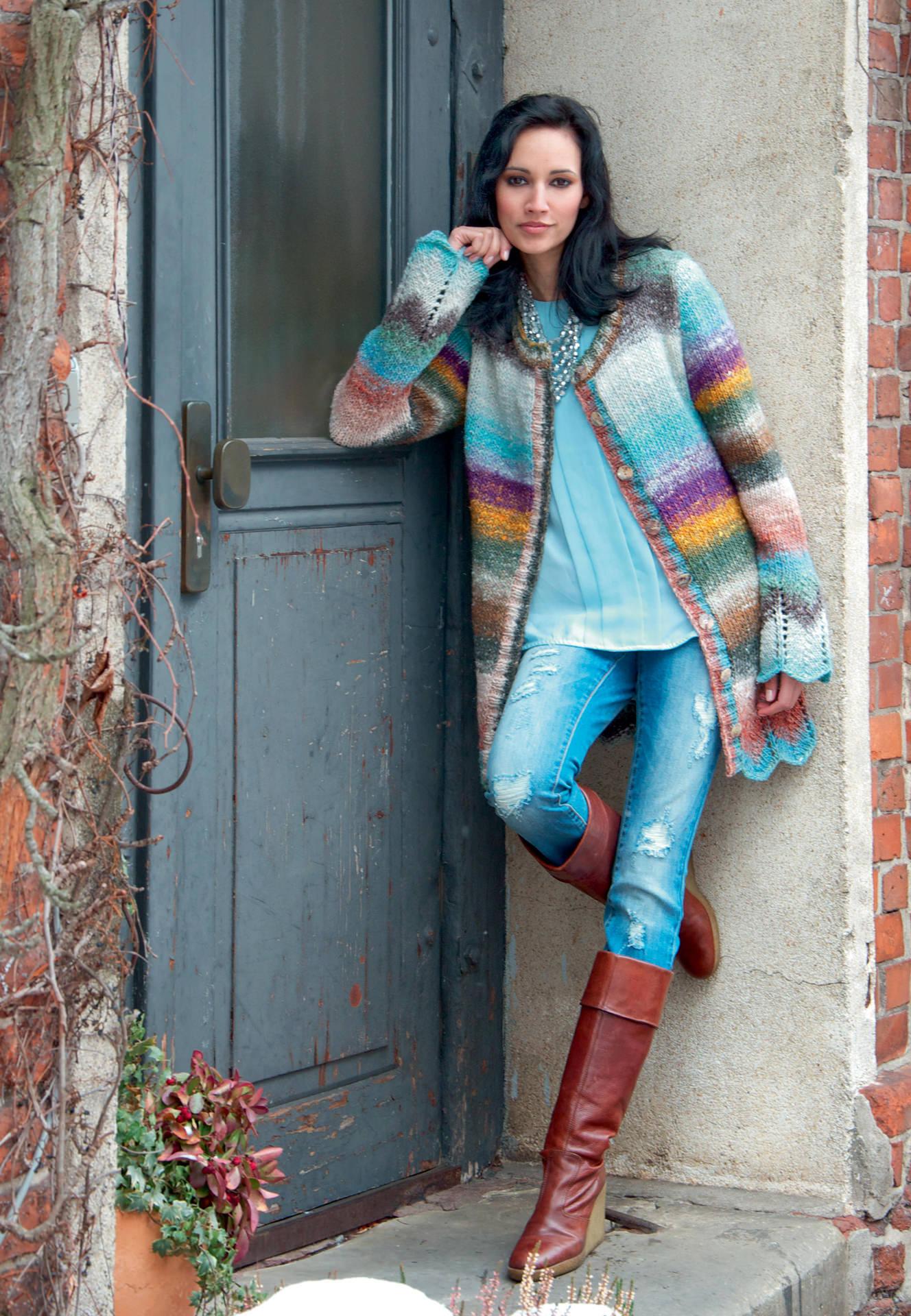 Modele manteau femme a tricoter