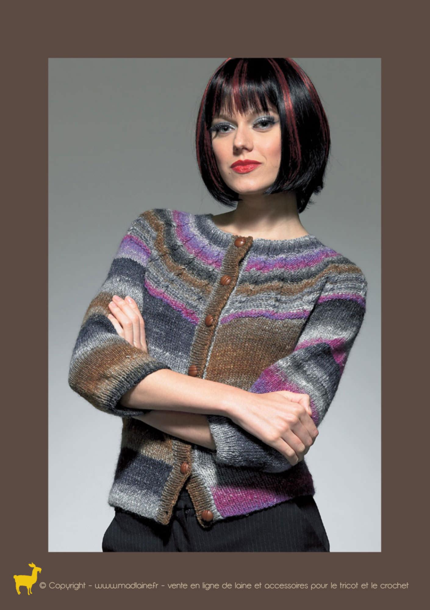 Modèle gilet tricot femme gratuit