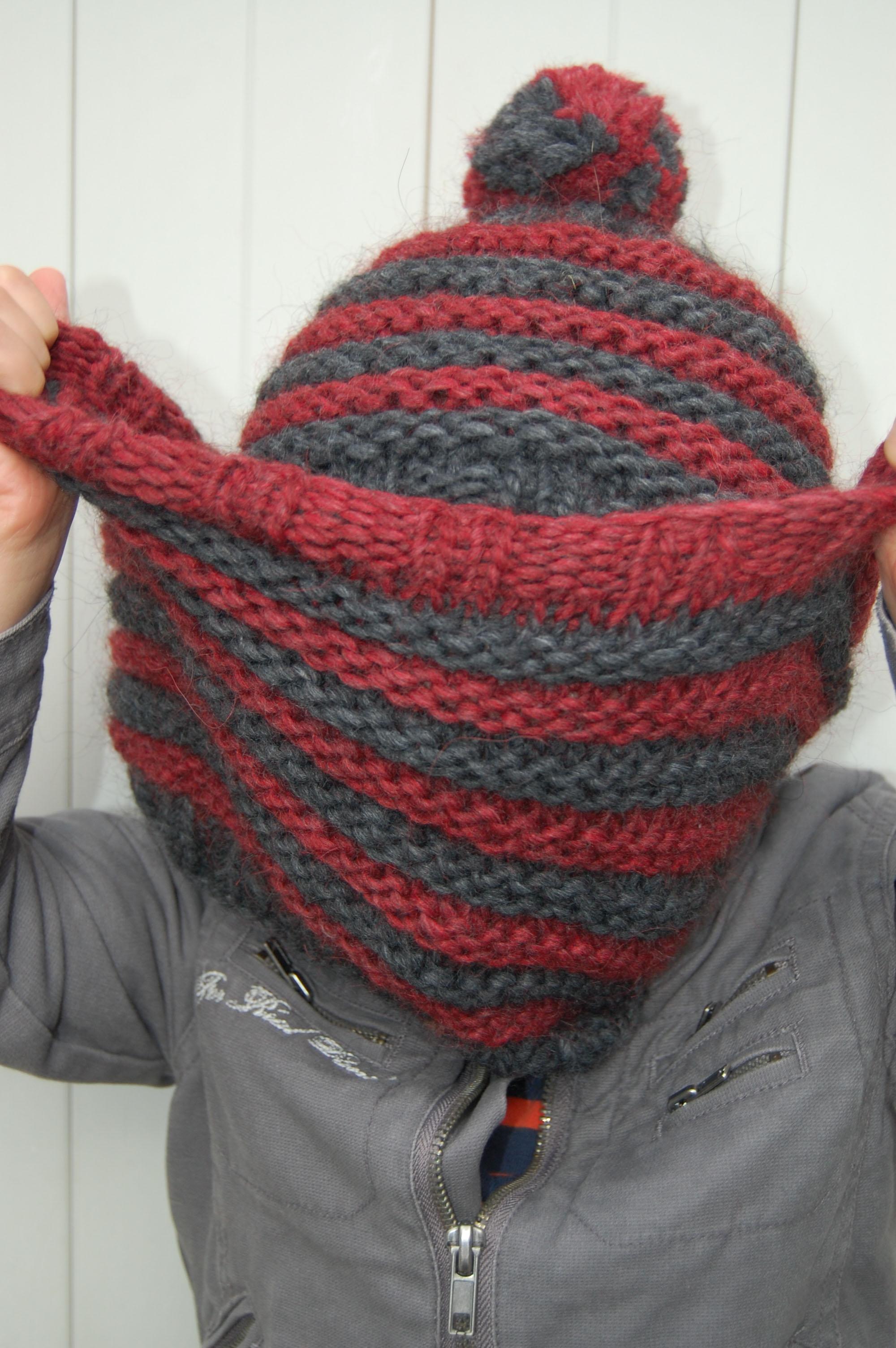 Tricot test mod le gratuit snood et bonnet en laine trappeur tricot test laine mad laine - Cote 2 2 tricot ...