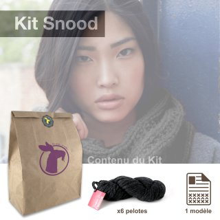 Kit Snood Sweet Paloma Charbon - Madlaine