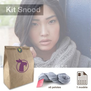 Kit Snood Sweet Paloma Argent - Madlaine
