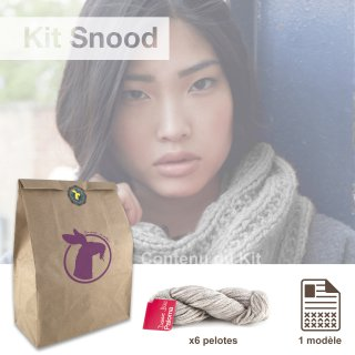 Kit Snood Sweet Paloma Galet - Madlaine