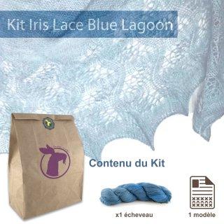 Kit Châle Iris Lace Blue Lagoon - Madlaine