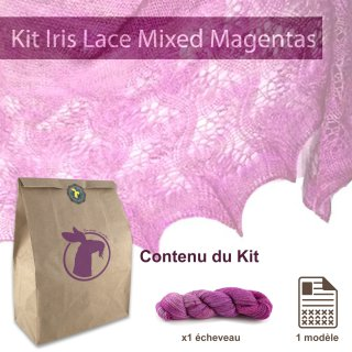 Kit Châle Iris Lace Mixed Magentas - Madlaine