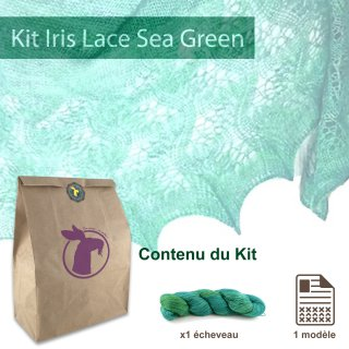 Kit Châle Iris Lace Sea Green - Madlaine