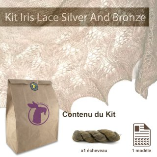 Kit Châle Iris Lace Silver And Bronze - Madlaine