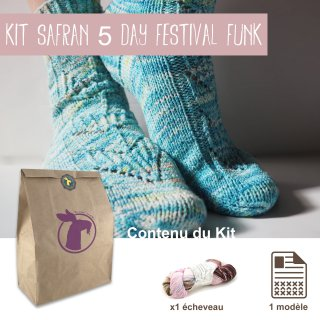 Kit Chaussettes Safran 5 Day Festival Funk - Madlaine