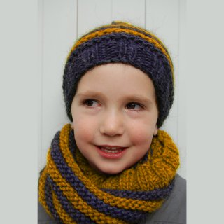 Kit Snood et Bonnet Crockett Jaune - Madlaine