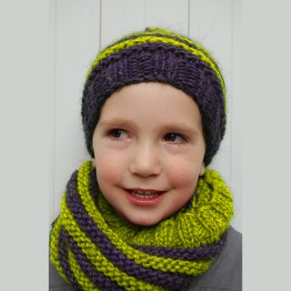 Kit Snood et Bonnet Crockett Vert - Madlaine