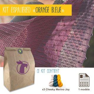 Kit Châle Espaliered Orange Bleue - Madlaine