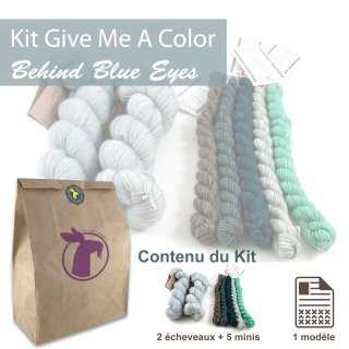 Kit Châle Give Me A Color Behind Blue Eyes - Madlaine