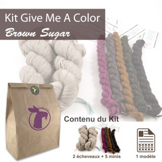 Kit Châle Give Me A Color Brown Sugar - Madlaine
