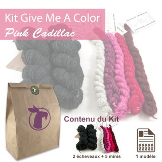 Kit Châle Give Me A Color Pink Cadillac - Madlaine