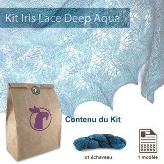 Kit Châle Iris Lace Deep Aqua - Madlaine