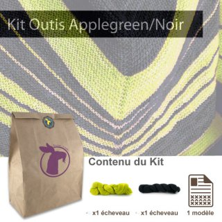Kit Châle Outis Apple Green / Black - Madlaine