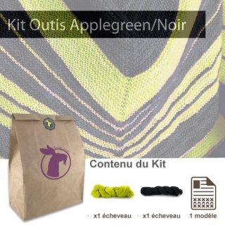 Kit Châle Outis Apple Green / Black - Madlaine