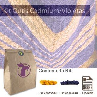 Kit Châle Outis Cadmium / Violetas - Madlaine