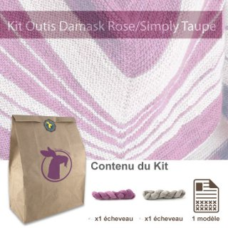 Kit Châle Outis Damask Rose / Simply Taupe - Madlaine