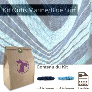 Kit Châle Outis Marine / Blue Surf - Madlaine