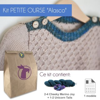 Kit Pullover Petite Ourse Alasco 1-4 ans - Madlaine