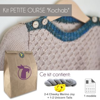 Kit Pullover Petite Ourse Kochab 6-10 ans - Madlaine