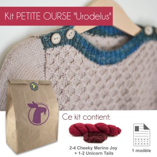 Kit Pullover Petite Ourse Urodelus 1-4 ans - Madlaine