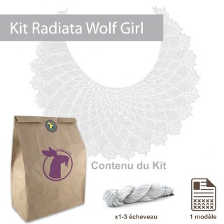 Kit Châle Radiata Wolf Girl Taille S - Madlaine