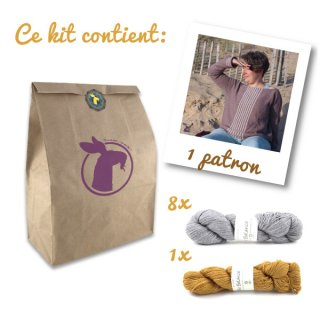 Kit Pull Sea Sighting Gris-Ocre // Taille XL-2XL - Madlaine