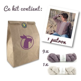 Kit Pull Sea Sighting Taupe-Blanc // Taille 3XL-4XL - Madlaine