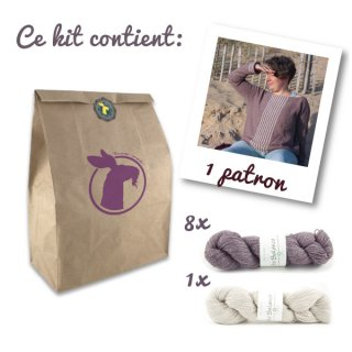 Kit Pull Sea Sighting Taupe-Blanc // Taille XL-2XL - Madlaine
