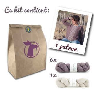 Kit Pull Sea Sighting Taupe-Blanc // Taille 2XS-XS-S  - Madlaine