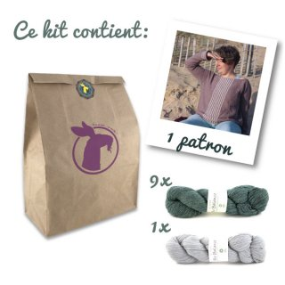 Kit Pull Sea Sighting Vert-Gris // Taille 3XL-4XL - Madlaine