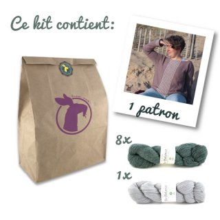 Kit Pull Sea Sighting Vert-Gris // Taille XL-2XL - Madlaine