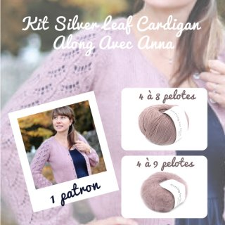 Kit Cardigan Silver Leaf Dusty Rose - Madlaine