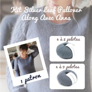 Kit Pullover Silver Leaf Dusty Petroleum Blue - Madlaine