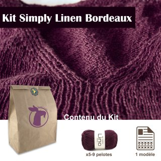 Kit Top Simply Linen Bordeaux / XXL - Madlaine