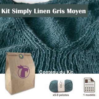 Kit Top Simply Linen Gris / S-M - Madlaine