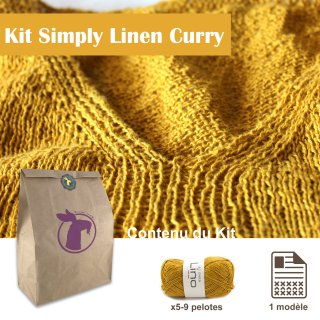 Kit Top Simply Linen Curry / L - Madlaine