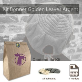 Kit Bonnet Golden Leaves Argent - Madlaine